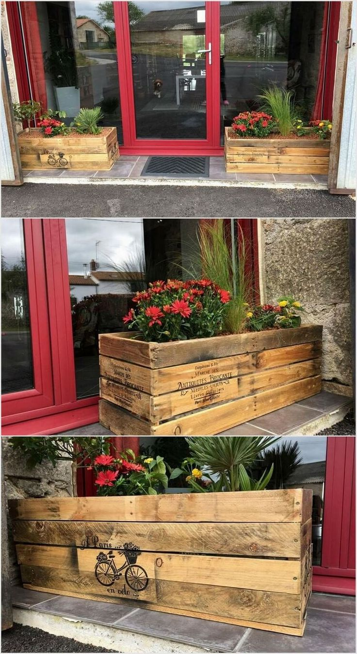 Wood pallet planters are perfect option for the garden areas. It would give out a lovely impression if you will be locating the planters as outside your balcony or in the areas of the terrace. Be sure that if you are in favor to opt for this idea then you should add the planters with the fresh colorful flowers. Are you ready to try with this idea?