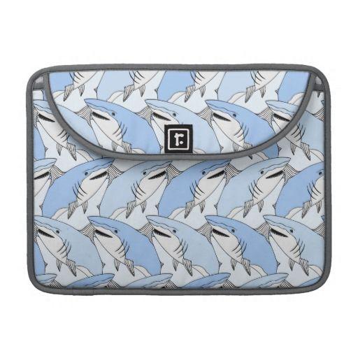 Симпатичные Акула шаблон MacBook Pro рукава