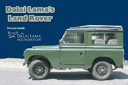 The Dalai Lama's Land Rover!