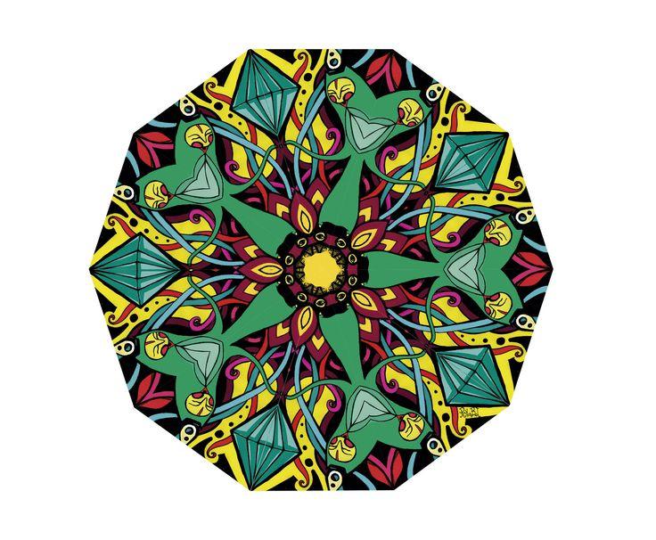https://flic.kr/p/v9L9P6 | Mandalita flor | Estampa para Santo Diseño Remeras Sublimadas, Ramos Mejí.   Invierno 2015 Buenos Aires