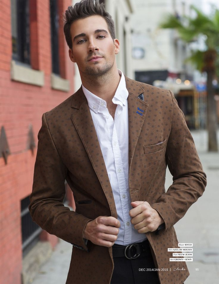 If the jacket didn't have the pattern, I'd like this look. By James Maslow