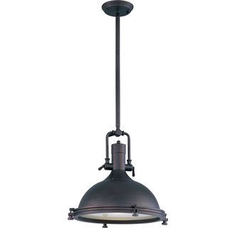View the Maxim 25109FTBZ Mini Hi-Bay 1 Light Full Sized Pendant at LightingDirect.com.