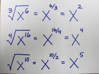 Pasar de Raiz a Exponente fraccionario