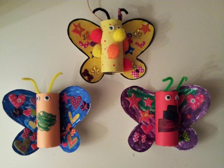 Notre bricolage avec mes petits enfants inspir de - Idee bricolage avec rouleau de papier toilette ...