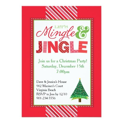 320 best Christmas Party Invitations images on Pinterest - holiday party invitation