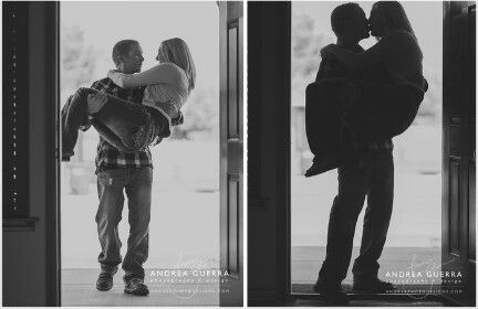 Having your husband carry you into your first home... Now that's a Kodak moment. New home couples photoshoot