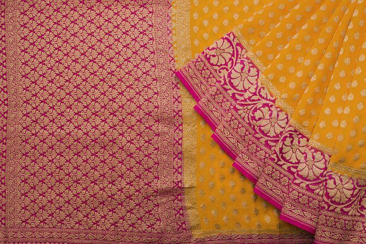Shivangi Kasliwaal Handwoven Banarasi Georgette Sari