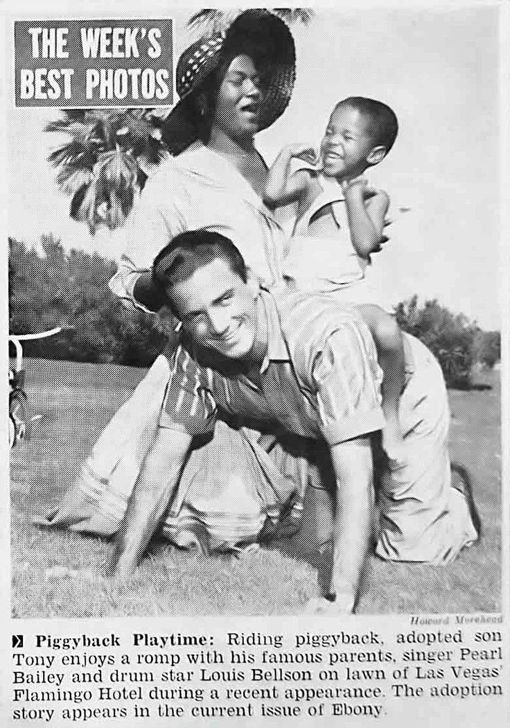 Pearl Bailey, Louis Bellson and Their Son Tony - Jet Magazine, January ...