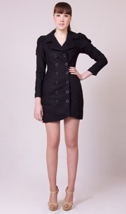 Marilyn Trench Coat in Black http://www.wrato.com/content/marilyn-coat