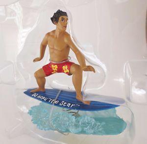 "Dashboard Hula Doll Surfboarder 5"" Figure KC Hawaii"