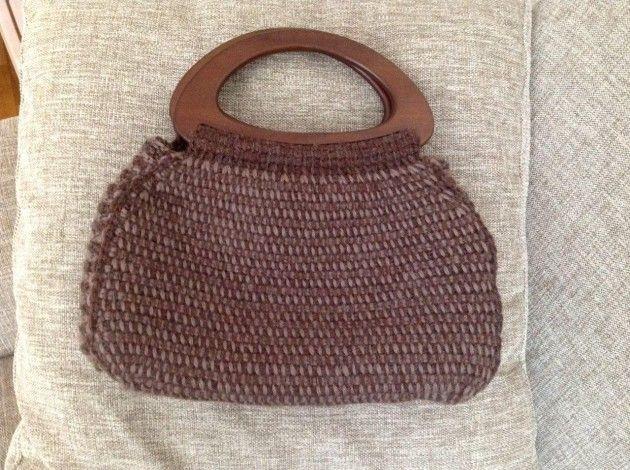 Håndarbeiden » Ikke hekling, ikke strikking, men hakking. - hakking - veske - craft - DIY