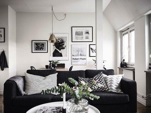 Home   interior design   decor   Details   living room   black   wood   inspiration   Flowers   wall