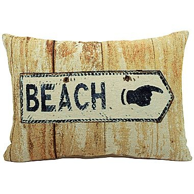 Beach Sign Decorative Pillow - jcpenney Pillows Pinterest Beach, Home and Beach signs