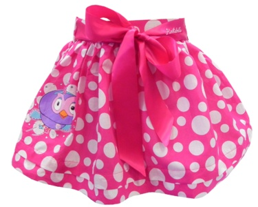 Hootabelle Skirt. Enjoy summer with this adorable Hootabelle skirt will be very popular with your youngster. Featuring Satin ribbon straps and bow. $19.99