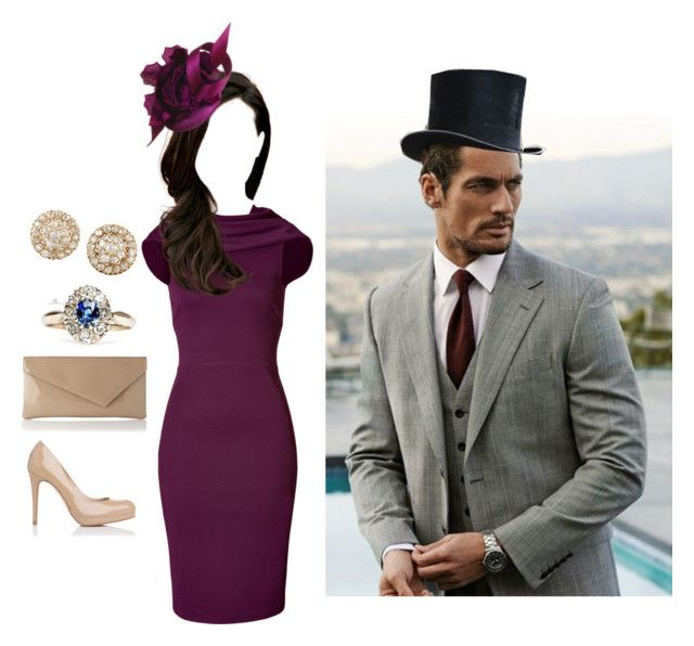 Attends the Royal Ascot by jumanaofpalestine on Polyvore featuring polyvore fashion style Donna Karan L.K.Bennett Fred Leighton Philip Treacy clothing