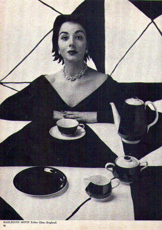 Harlequin Motif by Zoltan Glass ( England) 1958