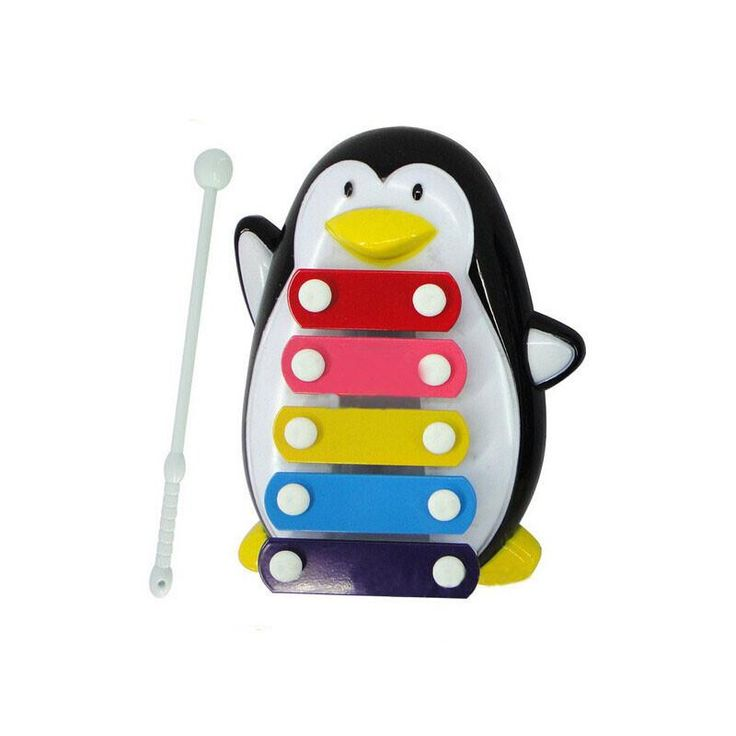 Baby Kid 5-Note Xylophone Musical Toys Wisdom Development Penguin Noise maker Xylophone Music Instrument #yl