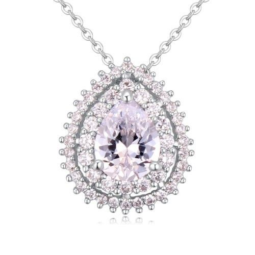$9,1 Wedding tears Cubic Zircon crystal necklace -Yohanna Jewelry Wholesale. BEST PRICE: Directly in the jewelry factory. VAT-free shopping: Available, partners based in the European Union, only applies to EU tax identification number (UID). Exclusive design SWAROVSKI crystals and AAA Zircon crystal jewelry and men's stainless steel jewelry and high-quality stainless steel jewelry for couples sell in bulk to resellers! Please contact us.