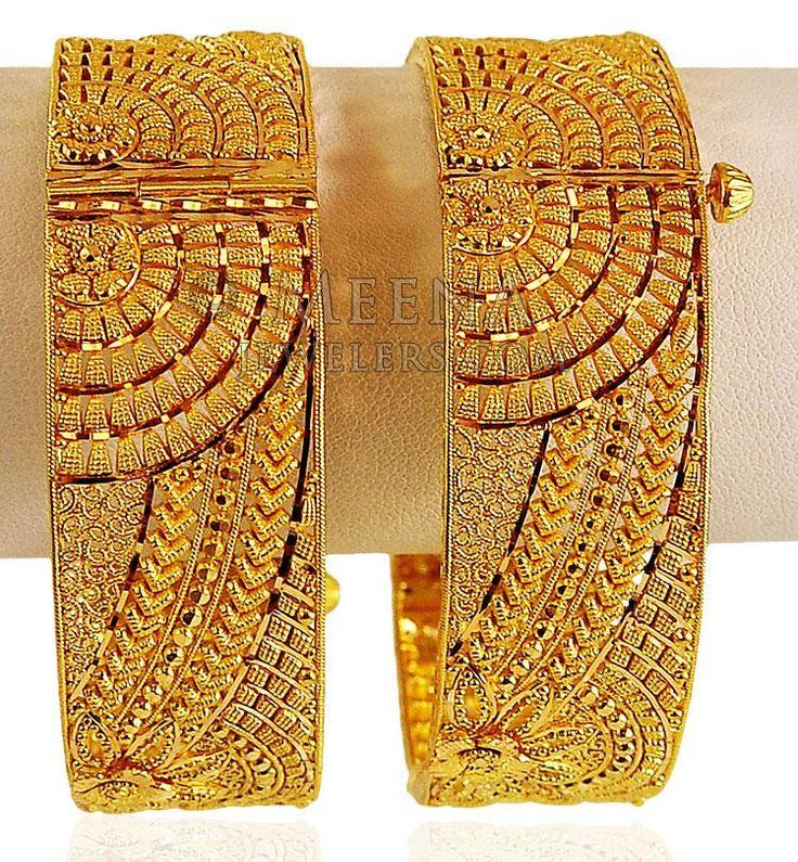 22K Gold Wide Kada (Pair) ( Kadas )