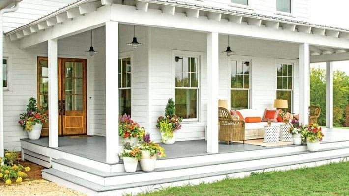 49 Unique Front Porch Decorations Front Porch Design Farmhouse Exterior House With Porch