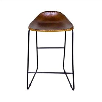 Bachell Learther Seat Metal Frame Counter Stool Light