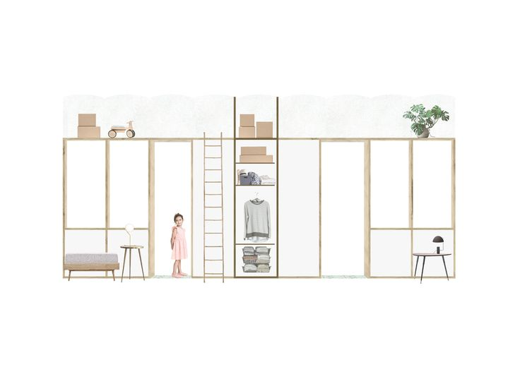 Plans et coupe 3D pour lu0027aménagement et la décoration du0027une maison