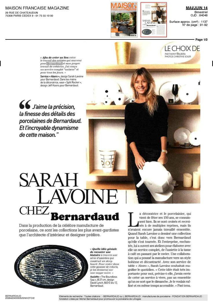 32 best images about bernardaud and artists on pinterest coupe salad plate - Maison francaise magazine ...