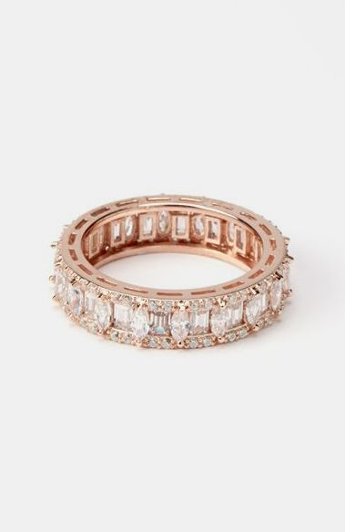 Rose Gold Fancy Eternity Ring ♥