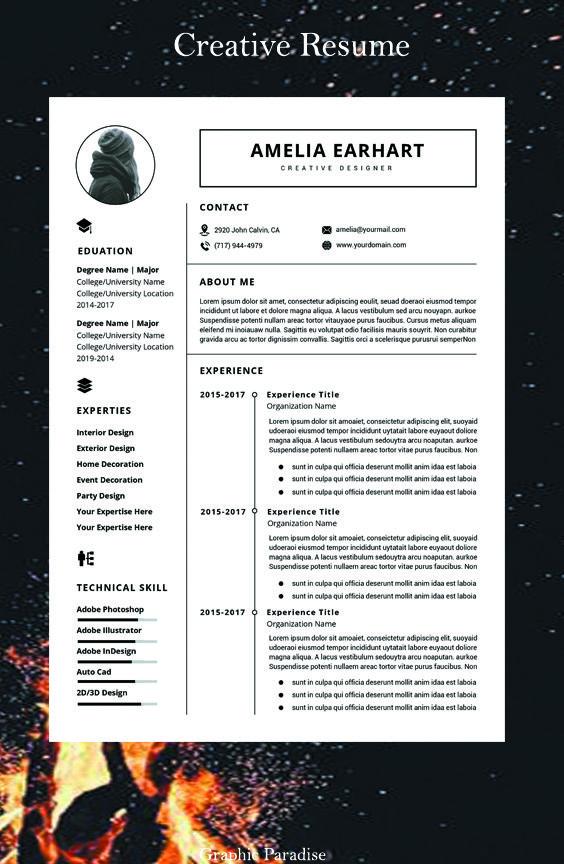 Resume Template Instant Download Professional Resume Etsy Resume Template Word Resume Template Resume Layout