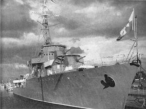 Polish destroyer ORP Burza.