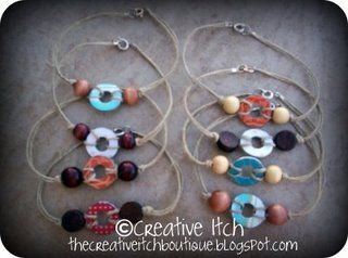 Washer bracelets: Bracelet, Jewelry Making, Girl Scouts, Girlscout, Washer Anklets, Creative Itch, Craft Ideas, Diy, Crafts
