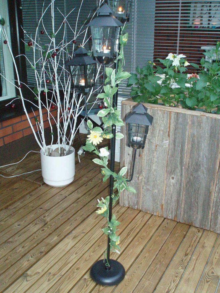 Diy ideas garden i did ikea standard lamp lantern