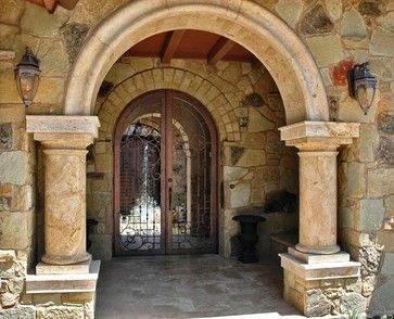 Courtyard Gates mediterranean windows and doors