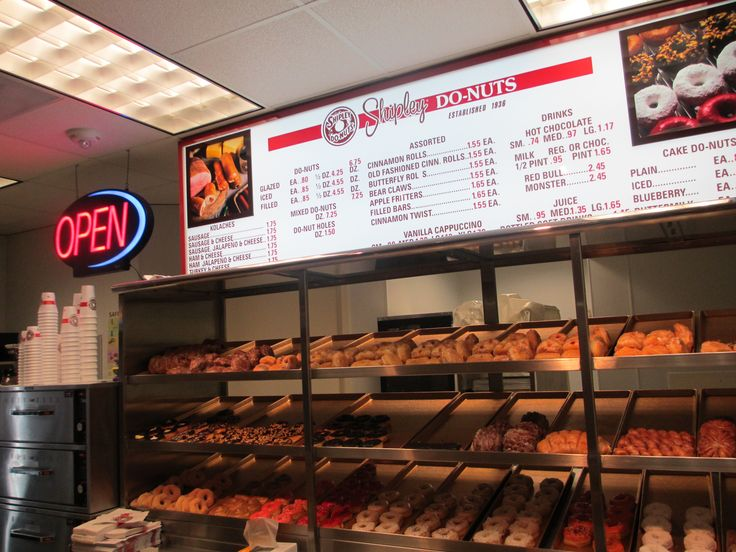 You'll find lots of yummy food in the Downtown Houston Tunnel System. This is the Shipley's Donuts shop in the Esperson Buildings Tunnel.