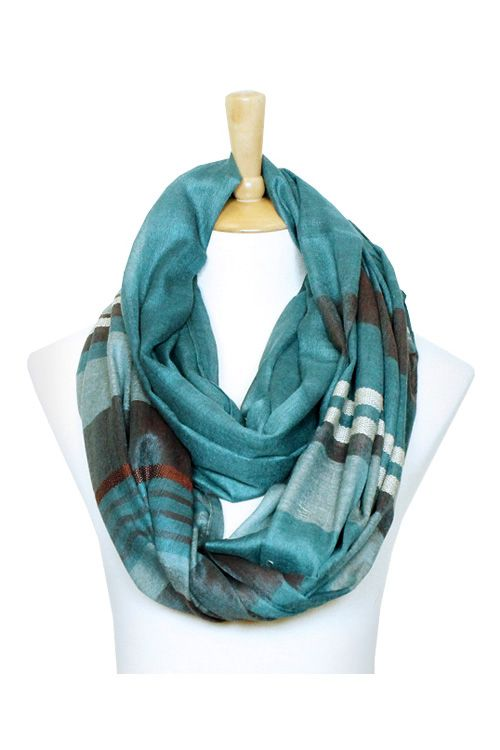 Erin Infinity Scarf in Teal on Emma Stine Limited