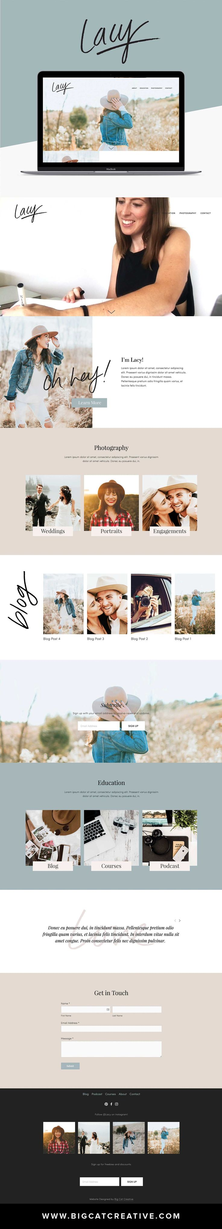 Lacy Squarespace Template available NOW - by Big Cat Creative | Squarespace Template | Squarespace Design | Squarespace Portfolio | Squarespace for photographers | Squarespace Website Inspiration | Squarespace Website Design Inspiration | Unique Website Design | Artistic Website Design | Creative Website Design | Web Design for Creative Entrepreneurs | Web Design for Photographers | Web Design for Interior Designers | Website design for Artists | Website Layout Design | Website Layout…