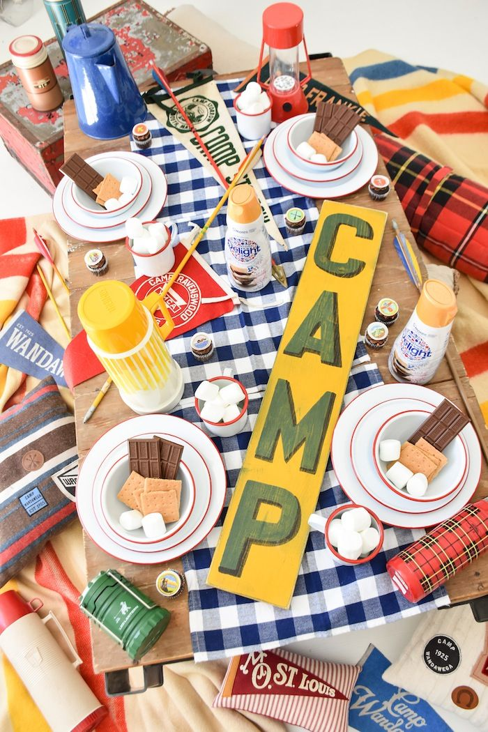Smores Party Camping Party Decorations Photo Booth Props Kids Birthday Summer Birthday Party Decorations