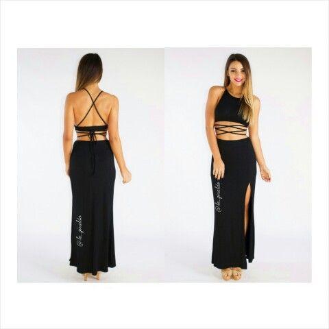Conjunto falda y crop top $115.000 En tus colores favoritos