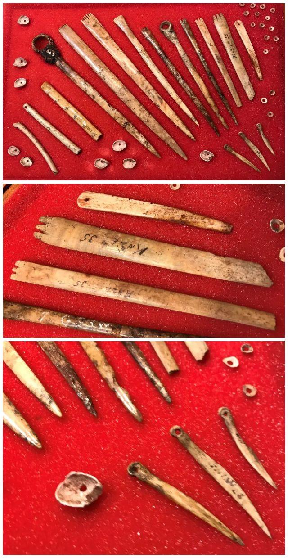 California Native American bone artifacts.