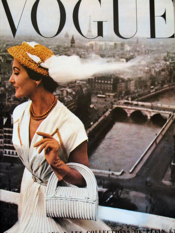 French Vogue cover by Robert Doisneau.