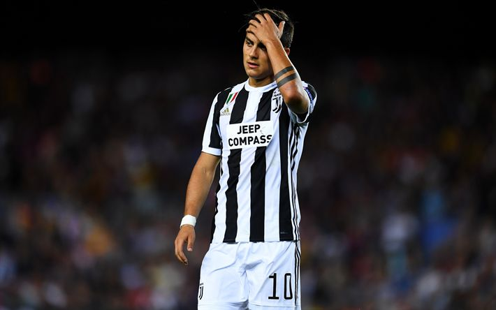 Download wallpapers Juventus, Paulo Dybala, 4k, football, match, footballers, Juve, Italy, Serie A