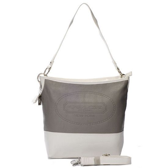 Coach Hamptons Medium Grey Shoulder Bag AYM 260