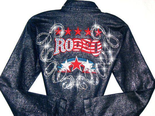 Rodeo star shimmery denim rodeo queen barrel racing shirt