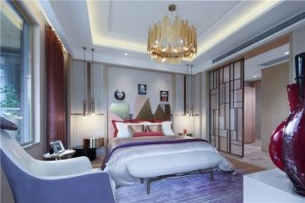 According to the designer, this room represents the Chinese concept 'square Earth and spherical heaven'