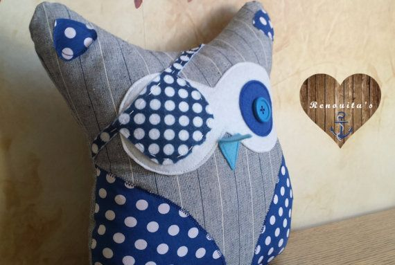 Pirate stuffed Owl kid's room decor - baby pillow - baby gift - nursery decor…