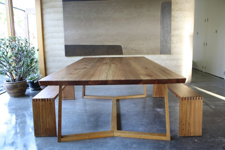 Table and bench seats made by Brad Nicholls, Nicholls Design.