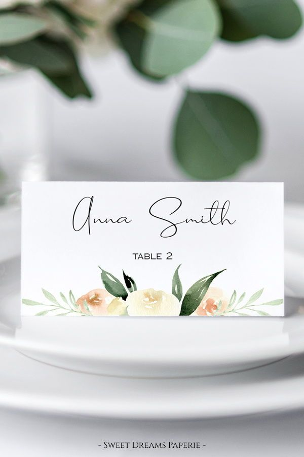 Printable Place Cards Template Diy Wedding Place Cards Etsy Wedding Table Name Cards Place Cards Wedding Diy Wedding Place Cards