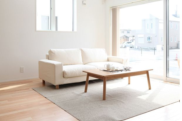 The MUJI living room. Love the light.