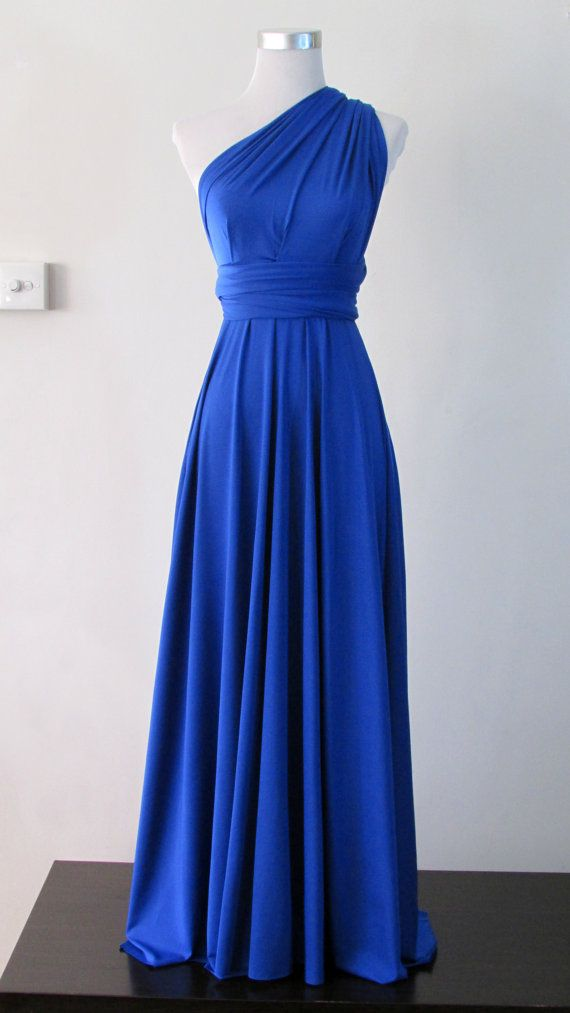 Summer maxi dress convertible dress in royal by for Blue summer dress for wedding
