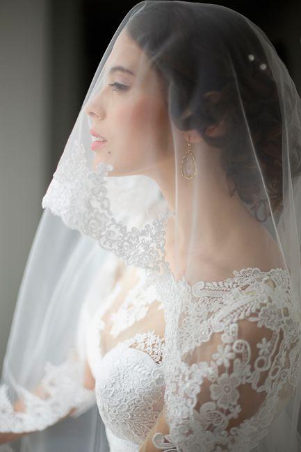 Bridal 2015# wedding# wedding dress# lace#  lace veil